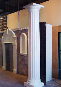 Rwm inc columns interior columns exterior columns full - Fluted wood columns interior ...