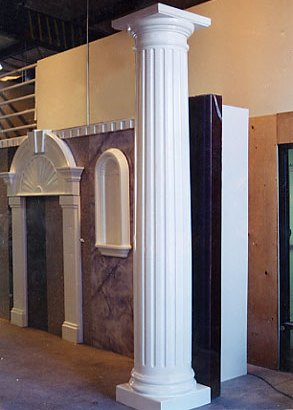 Fluted Interior Column.