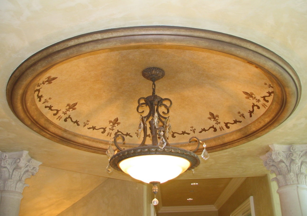 Add depth and character with our round recessed ceiling domes. - Ceiling Domes - GFRG Round Ceiling Domes By RWM-Inc.com