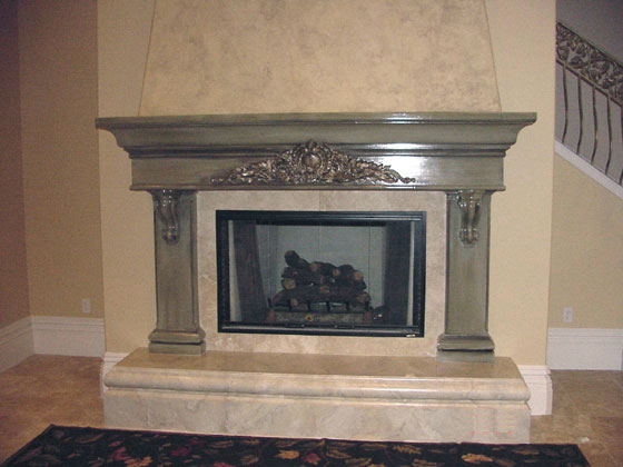 Price starts at $3748 for fireplace, hearth, and backer.