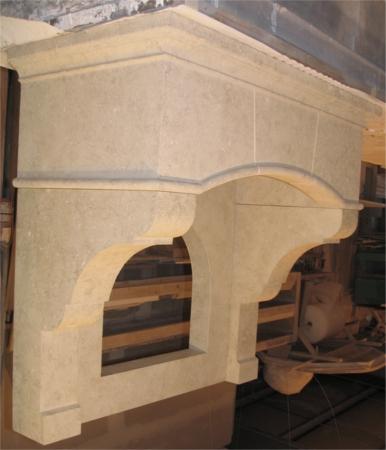 Range Hood Custom Limestone