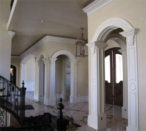 Rwm inc crown mouldings and radius mouldings archway for Decorative archway mouldings